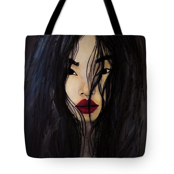 Tote Bag featuring the painting Bae Yoon Young At Backstage by Jarko Aka Lui Grande