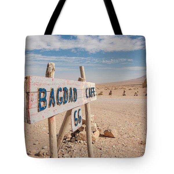 Bagdad Cafe Sign Tote Bag