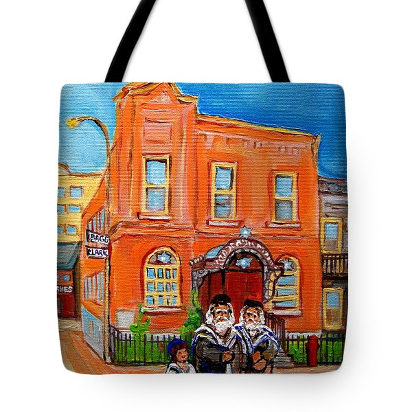 Bagg Street Synagogue Sabbath Tote Bag by Carole Spandau