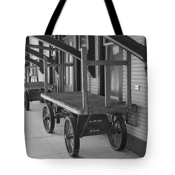 Baggage Carts Bw Tote Bag
