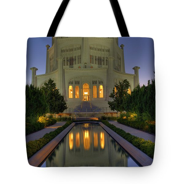 Bahai Temple Tote Bag by Sandra Bronstein