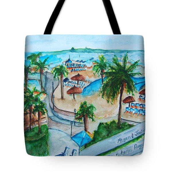 Bahamas Balcony Tote Bag by Elaine Duras