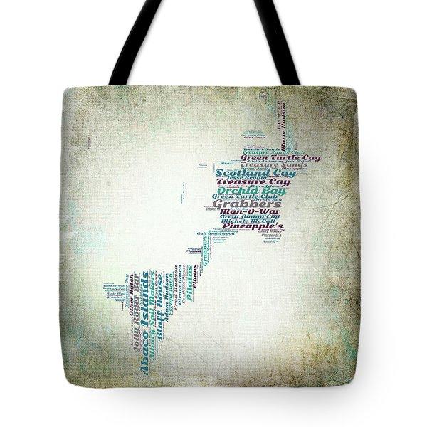 Bahamas Map Tote Bag