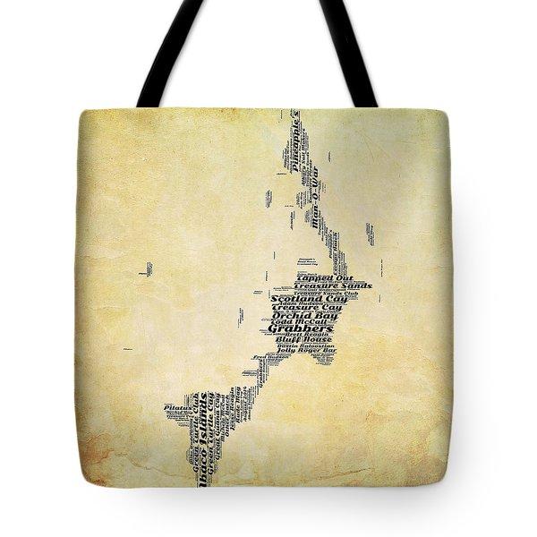 Bahamas Map V2 Tote Bag