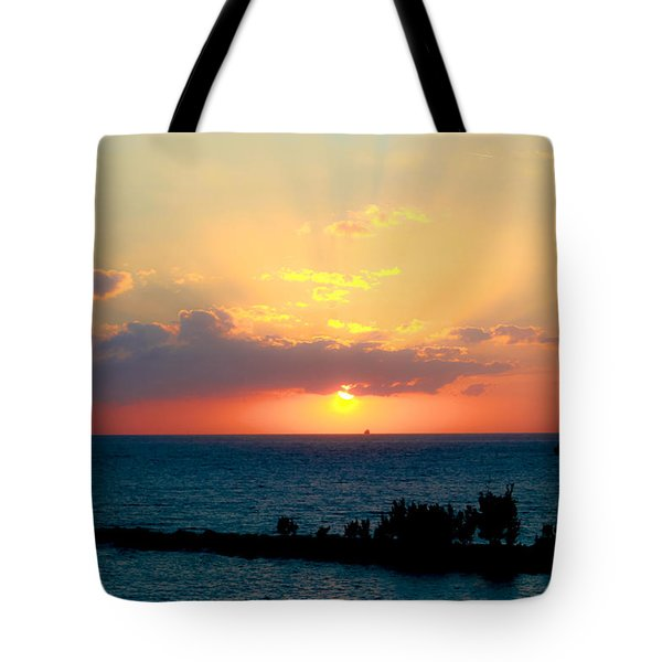 Bahamas Sunset Tote Bag