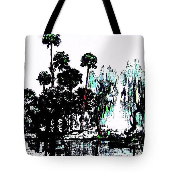 Tote Bag featuring the painting Bahia San Lucas by Roberto Prusso