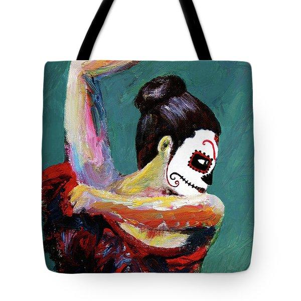 Bailan De Los Muertos Tote Bag