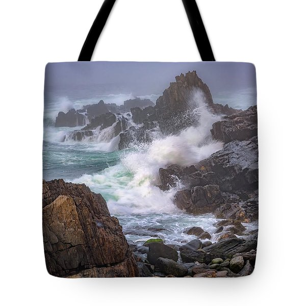 Bailey Island Coastline Tote Bag