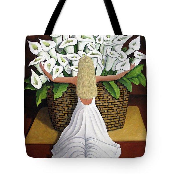 Baileyrae Lilies Tote Bag