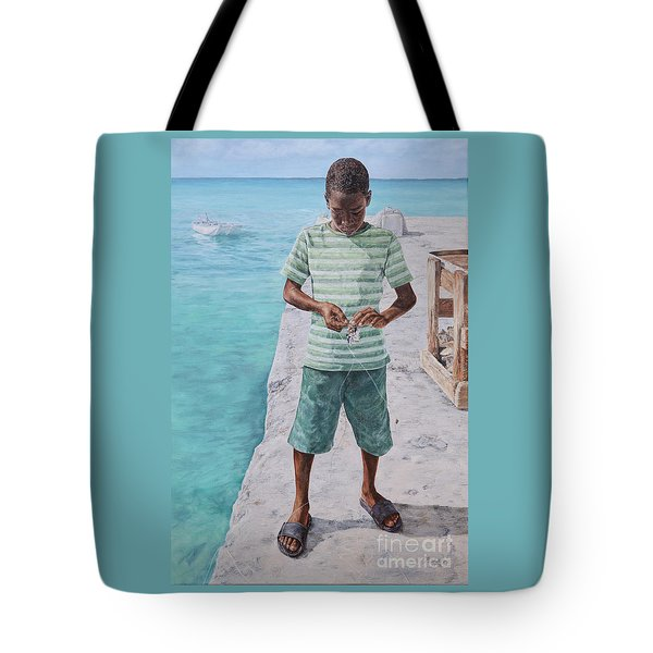 Baiting Up Tote Bag