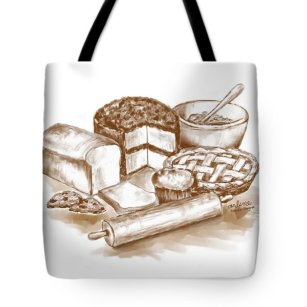 Baked Goods Tote Bag by Arline Wagner