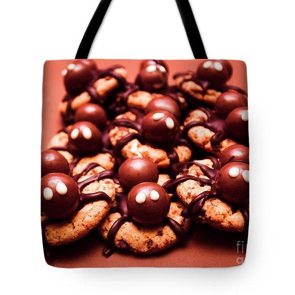Baked Halloween Spider Cookies Tote Bag