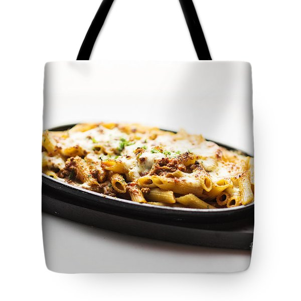Baked Penne Pasta With Meat And Cheese Tote Bag
