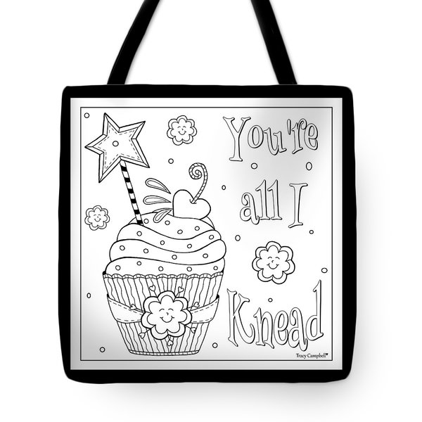Baked With Love Tote Bag by Tracy Campbell