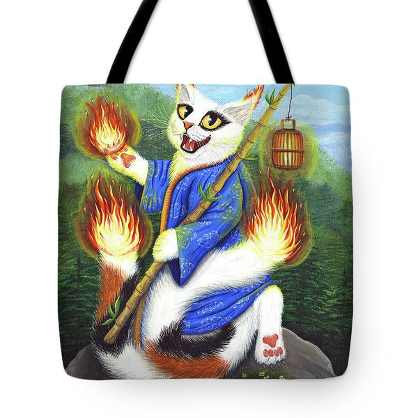 Bakeneko Nekomata - Japanese Monster Cat Tote Bag