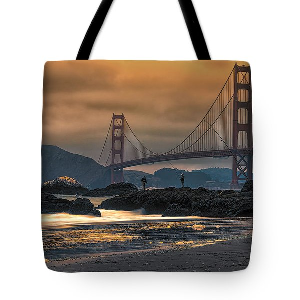 Baker Beach Golden Gate Tote Bag