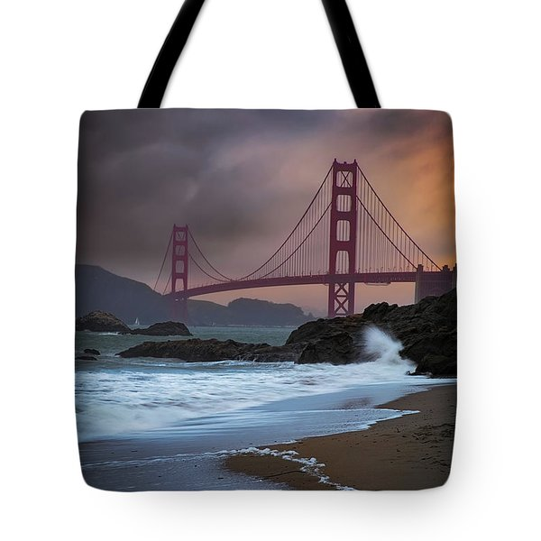 Baker's Beach Tote Bag by Edgars Erglis