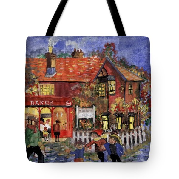 Bakers Inn Winter Holiday Landscape Tote Bag