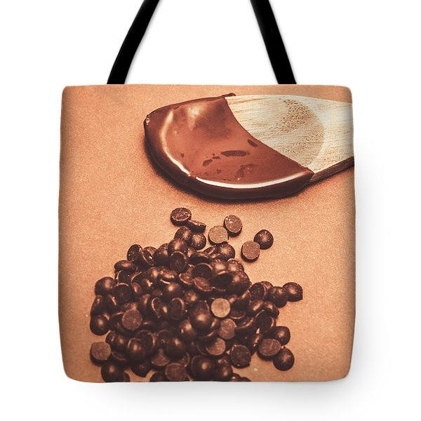Baking Desserts With Chocolate Tote Bag