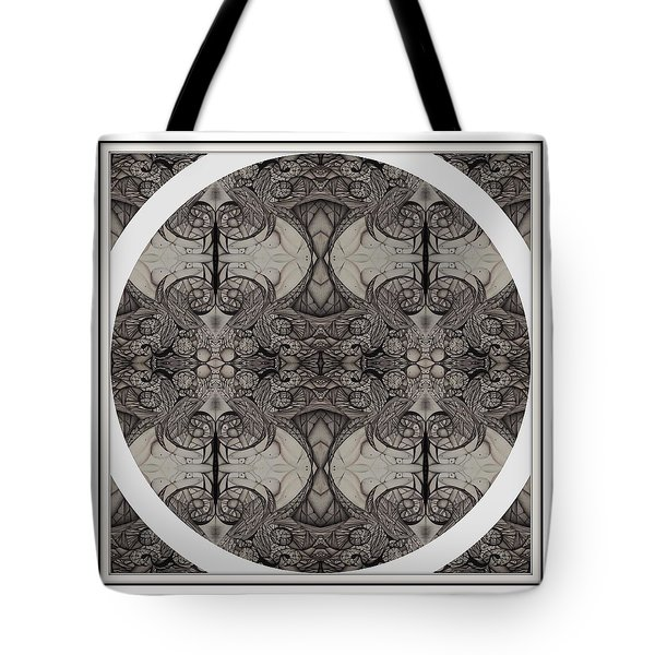 Balance Expressed In Black And White Tote Bag