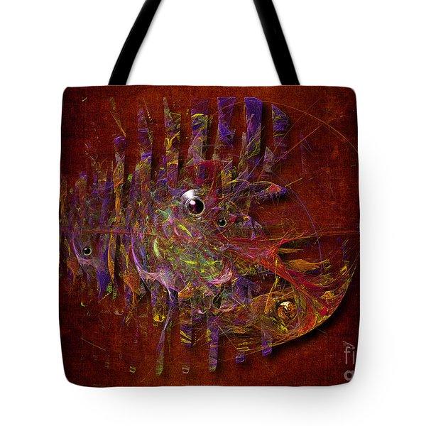 Tote Bag featuring the digital art Balance Ultramodern by Alexa Szlavics