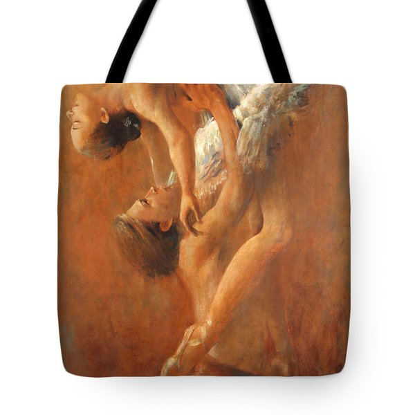 Balance In The Couple. Dance Painting .ballet.  Tote Bag