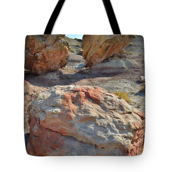 Balanced Boulders In Bentonite Site Tote Bag