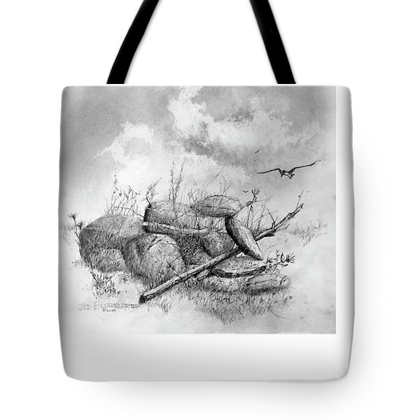 Balanced In The Field Tote Bag
