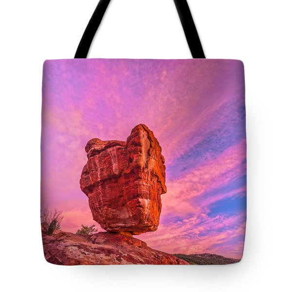 Balanced Precariously  Tote Bag