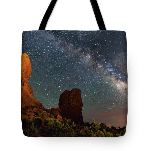 Balanced Rock And Milky Way Tote Bag