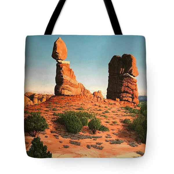Balanced Rock At Arches National Park Tote Bag