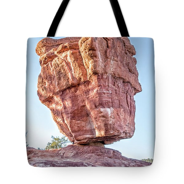 Balanced Rock In Garden Of The Gods, Colorado Springs Tote Bag by Peter Ciro
