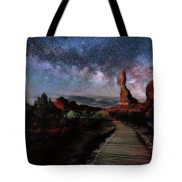 Balanced Rock Milky Way Tote Bag