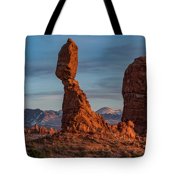 Balanced Rock Sunset Tote Bag