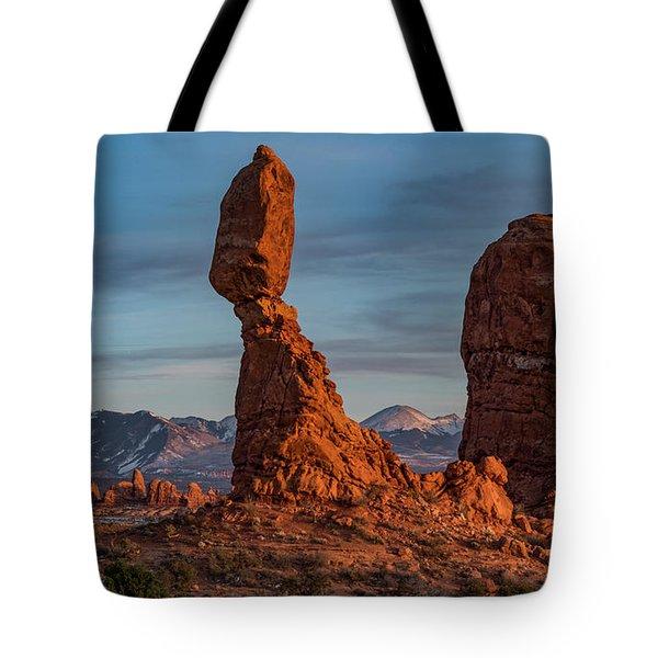Balanced Rock Sunset Tote Bag