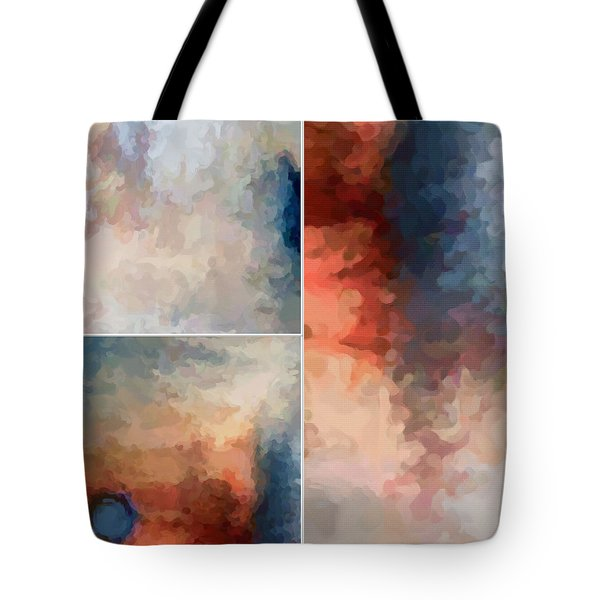 Tote Bag featuring the digital art Balance...three by Tom Druin