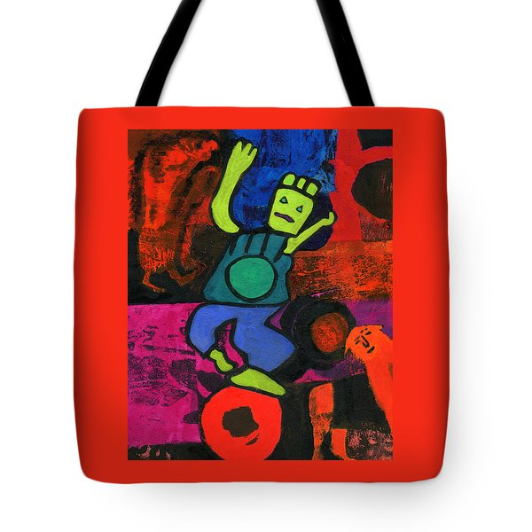 Balancing Act Tote Bag by Catherine Redmayne