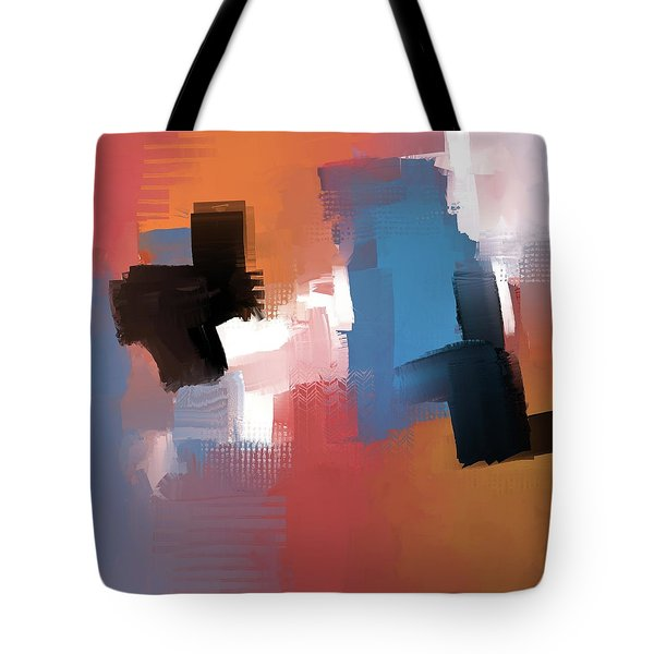 Tote Bag featuring the mixed media Balancing Act by Eduardo Tavares