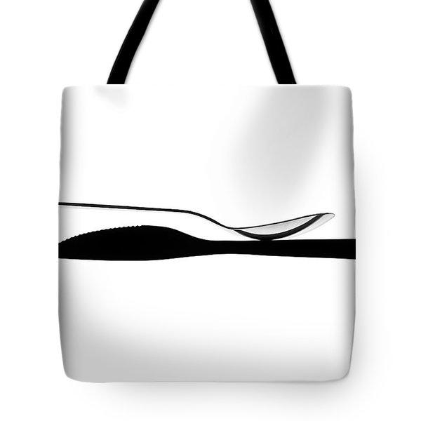 Balancing Spoon Tote Bag