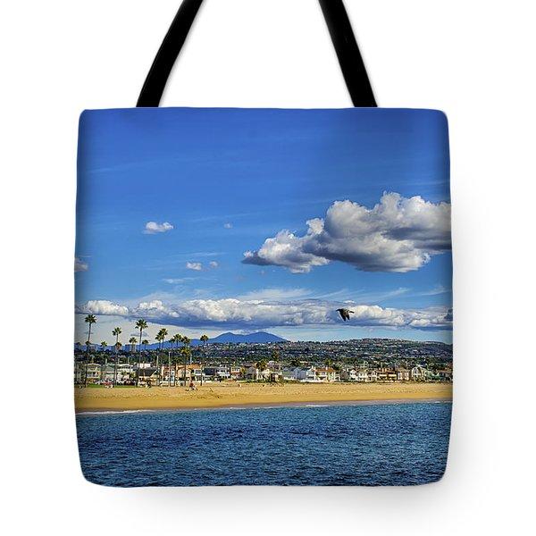 Tote Bag featuring the photograph Balboa Island To Saddleback Mtn. by Joseph Hollingsworth
