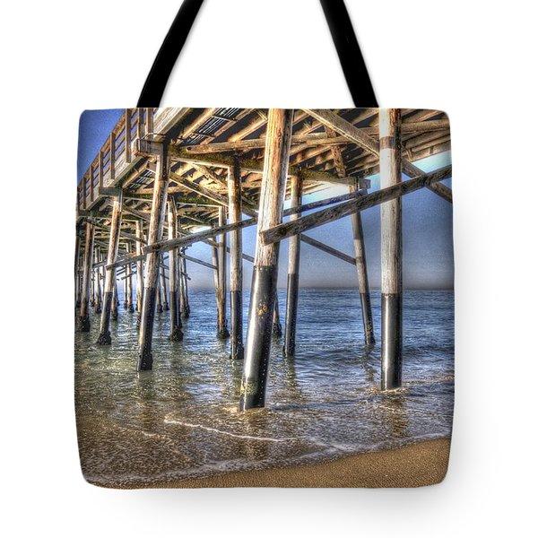 Balboa Pier Pylons Tote Bag