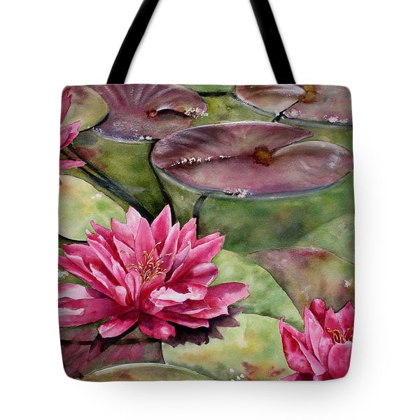 Balboa Water Lilies Tote Bag by Mary McCullah