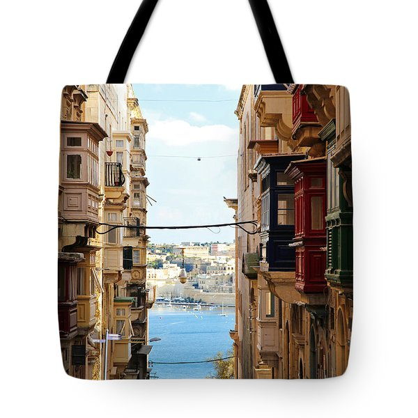 Balconies Of Valletta 2 Tote Bag