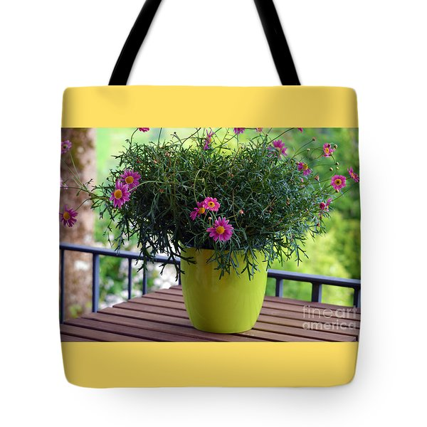 Tote Bag featuring the photograph Balcony Flowers by Susanne Van Hulst