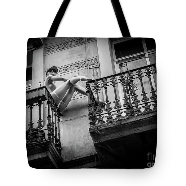 Tote Bag featuring the photograph Balcony Scene by Hans Janssen