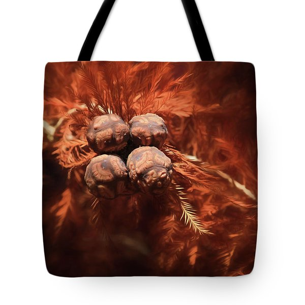 Bald Cypress Cones Tote Bag