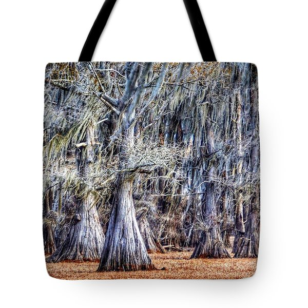 Bald Cypress In Caddo Lake Tote Bag by Sumoflam Photography