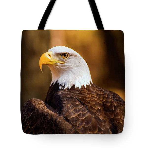 Bald Eagle 2 Tote Bag by Chris Flees