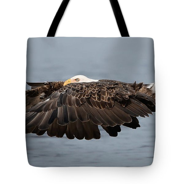 Bald Eagle And Fish Tote Bag