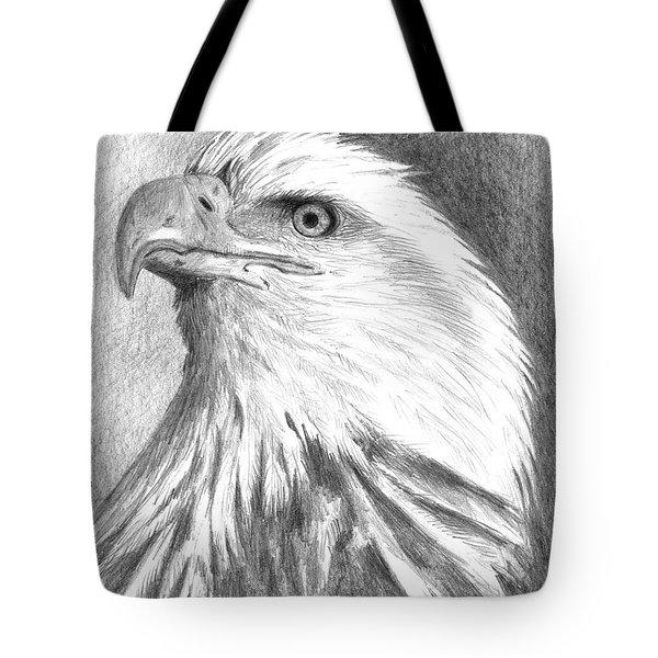 Bald Eagle Tote Bag by Arline Wagner
